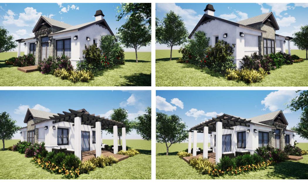 Retreat community renderings